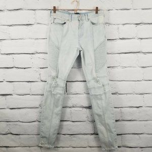 Pacsun Stretch Stacked Skinny Distressed Jeans